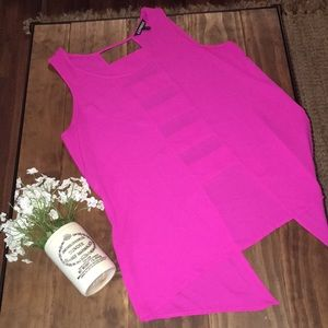 Express tank with cutouts down back & longer tails